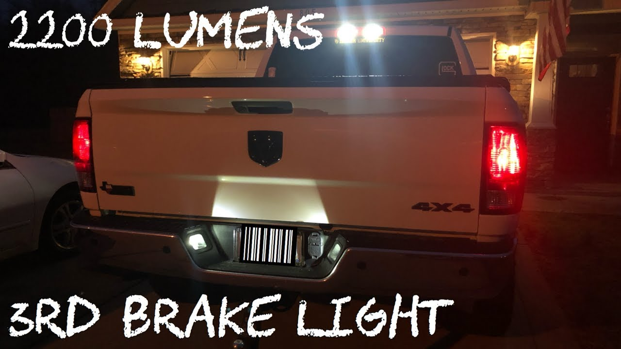 Ram 1500 2500 3rd Brake Light Led Bulb Upgrade Youtube