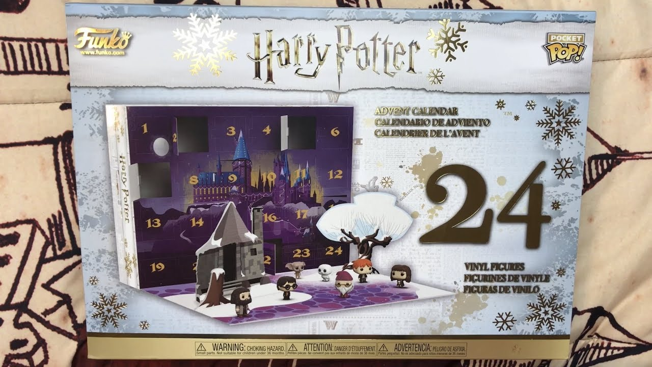 Calendrier De Lavent Harry Potter Funko Pop.Funko Harry Potter Advent Calendar From Gamestop Unboxing