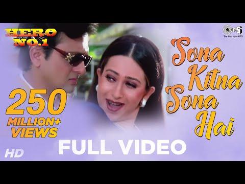 Sona Kitna Sona Hai - Hero No. 1 | Govinda & Karisma Kapoor | Udit Narayan & Poornima