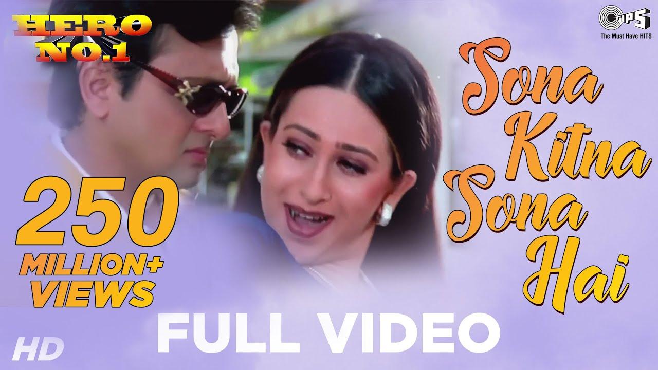 Sona Kitna Sona Hai - Video Song | Hero No. 1 | Govinda & Karisma Kapoor | Udit N & Poornima #1