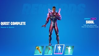 How To Unlock Neymar Jr Outfit With Built In Shh! Emote, Trophy And Celebration Emote - Fortnite.
