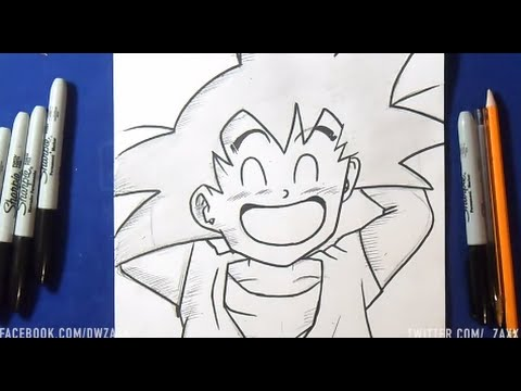 Comment dessiner sangoku enfant youtube - Dessin sangoku ...