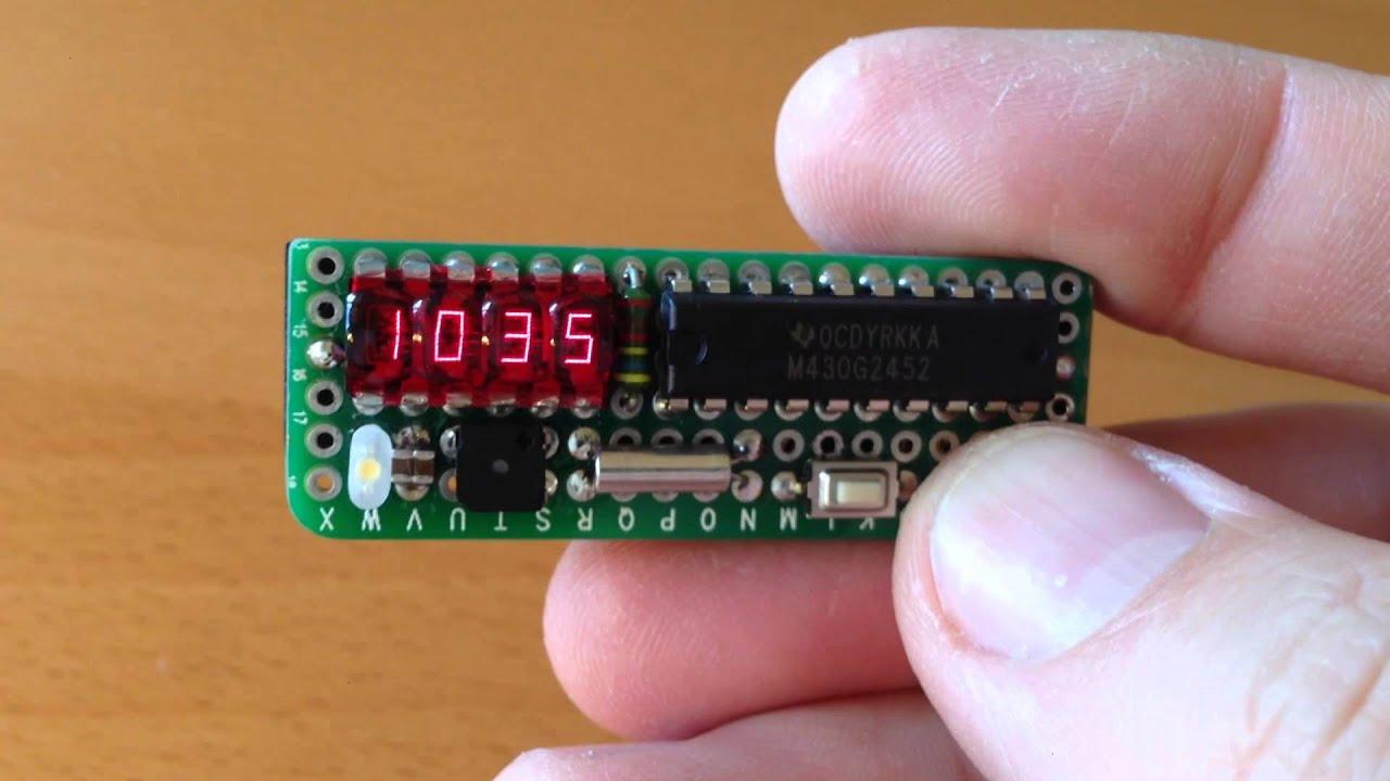Bubble Display Msp430 Alarm Clock Doovi