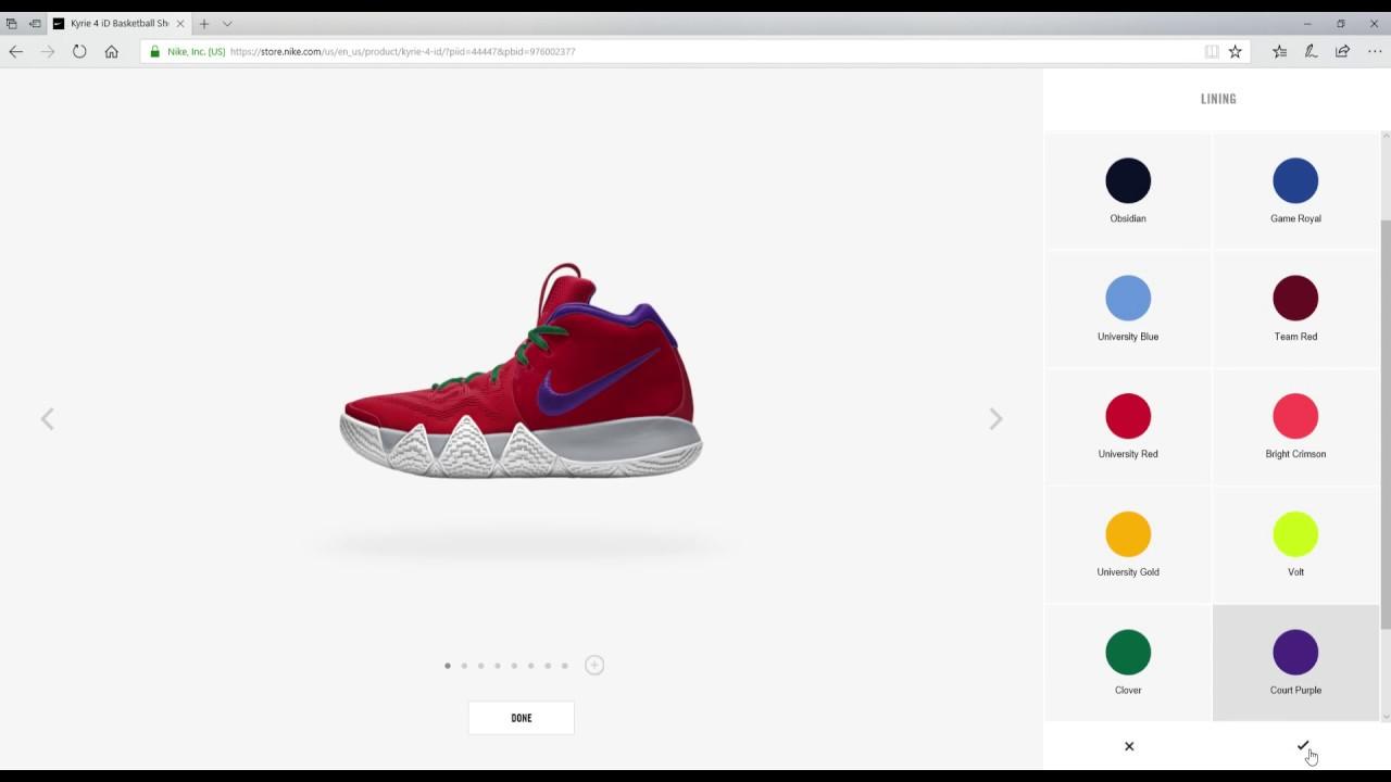 de3491e48a4821 How to Customize Kyrie 4 (Nike ID) - YouTube