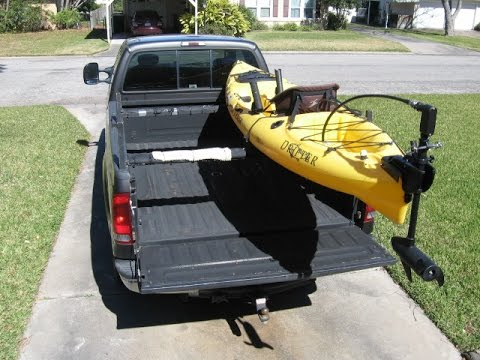 Low profile kayak rack for a truck DIY part 2 - YouTube