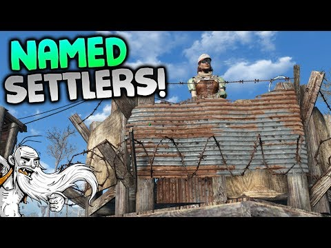 """""""NAMED SETTLERS MOD!!!"""" - Fallout 4 Sim Settlements Mod Gameplay Let's Play"""