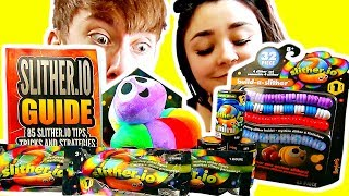 OPENING SLITHER.IO TOYS! (Slitherio Toy Unboxing / Review)