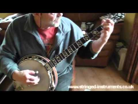 01 Foggy Mountain on 5 String Banjo - basic chords structure and slow down the neck 1/7