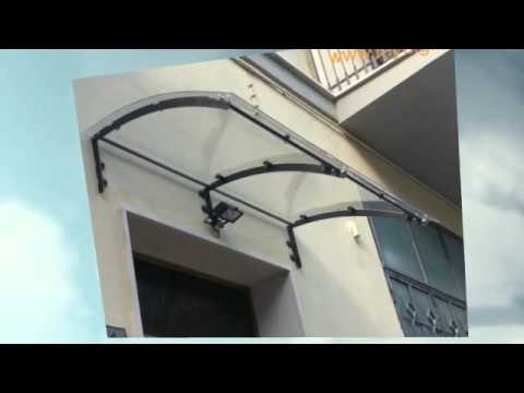 Pensilina tettoia policarbonato plexiglas vetro roma youtube - Colle plexiglas leroy merlin ...