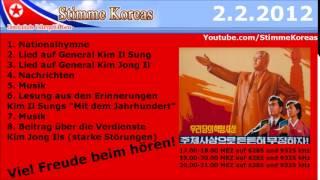 Deutsches Radioprogramm Nordkorea   2 2 2012   Stimme Koreas 4 4