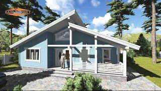 видео Проект комбинированного одноэтажного дома площадью 33.60 м2