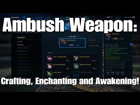 Tera PS4 - Ambush Weapon Crafting, Enchanting (+12) And Awakening!