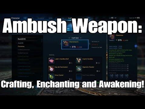 Tera PS4 - Ambush Weapon Crafting, Enchanting (+12) and Awakening!