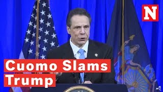 Andrew Cuomo Slams Trump In Ellis Island Speech: 'Never Forget Where You Came From'