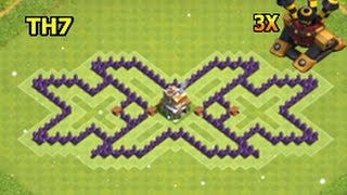 Clash Of Clans 7 Town Hall Best Base/Defence Base/Hybrid/FARMING