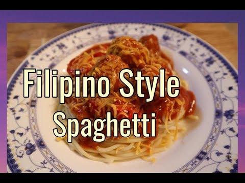 Filipino Style Spaghetti Recipe Filipino Recipes Atbp Celeste G Youtube