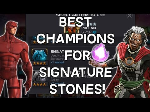 Signature Stones - Best Champions To Use Them On? - Marvel Contest Of Champions