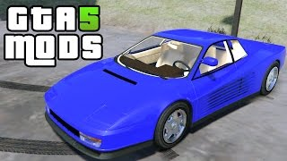 GTA 5 PC MODS - 1984 Ferrari Testarossa (GTA 5 CAR MOD)