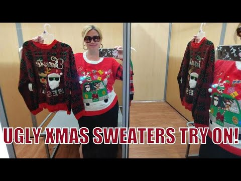 Walmart Ugly Christmas Sweater Dressing Room Try On Haul!