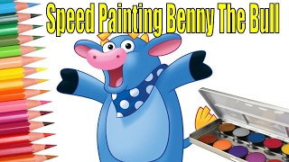 Dora The Explorer Speed Painting Benny The Bull by Quick