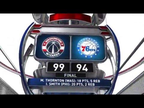 Washington Wizards vs Philadelphia 76ers - March 17, 2016