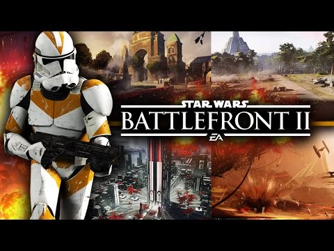 Star Wars Battlefront 2 News - ALL NEW MAP ART! 17 Minutes On Single Player and Multiplayer!