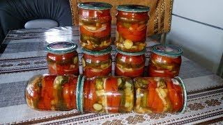 Супер Эксклюзивный ! Салат на Зиму Помидоры и Огурцы в Маринаде из Кетчупа !