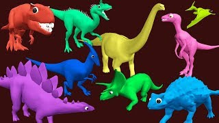 Learn Colors with Dinosaurs for Kids   Dinosaur and Colours for Children and much more...