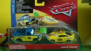 Disney Pixar Cars die-cast review: Dexter Hoover with Green Flag & Charlie Checker