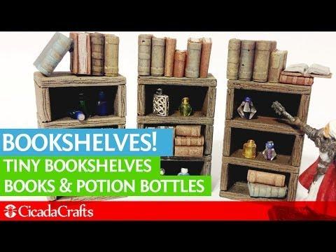 Terrain Accessories: Bookshelves, Bottles and Books!
