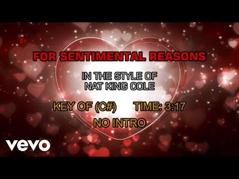 Nat King Cole - For Sentimental Reasons (Karaoke)