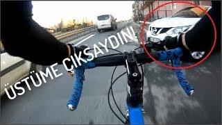Bisiklet Vlog - Ultra saygısız sürücüler - Kısa sprintler ve küçük makaslar