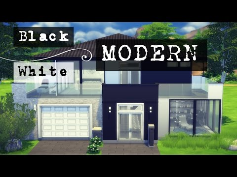 The Sims 4: Speed Build | Black and White Modern