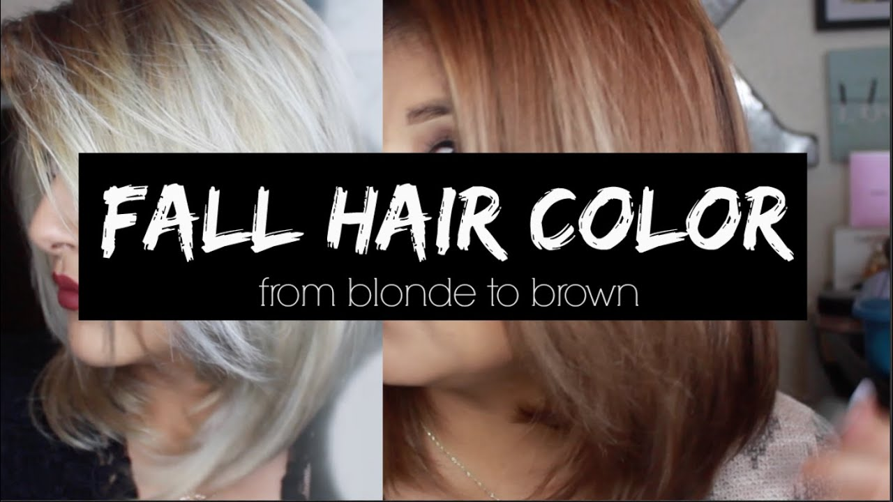 Fall Hair Color From Blonde To Brown Kmanzo01 Youtube