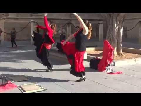 Uliczne flamenco Sewilla, Andaluzja październik 2014