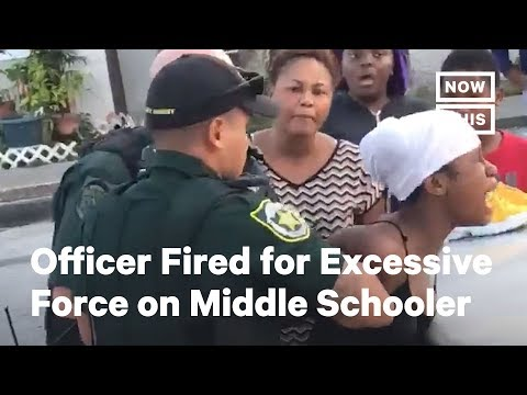 Officer Fired for Using Excessive Force on Middle Schooler | NowThis