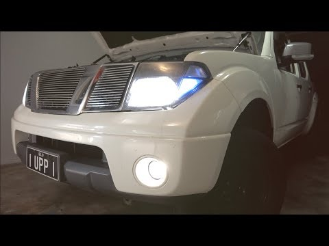 How to install fog lights into Nissan Navara - D40 - YouTube