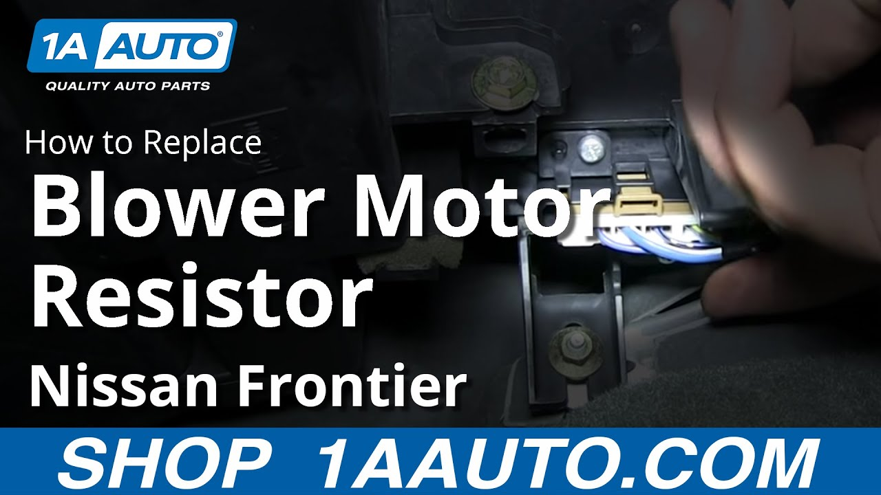 How To Install AC Heater Fan Speed Control Resistor 19982004 Nissan Frontier  YouTube