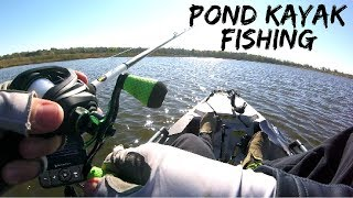 POND Kayak Fishing in WINDY Conditions (Fishing Videos Archive)