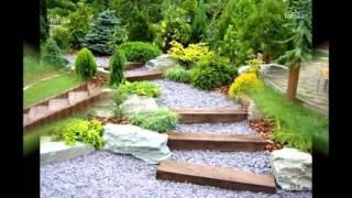 Декоративные и садовые лестницы в ландшафтном дизайне участка своими руками
