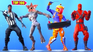 TOP 100 FORTNITE DANCES - EMOTES LOOKS BETTER WITH THESE SKINS.!
