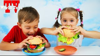 БУРГЕР ЧЕЛЛЕНДЖ Burger Challenge с шоколадом и лягушками Челленджи от Арины