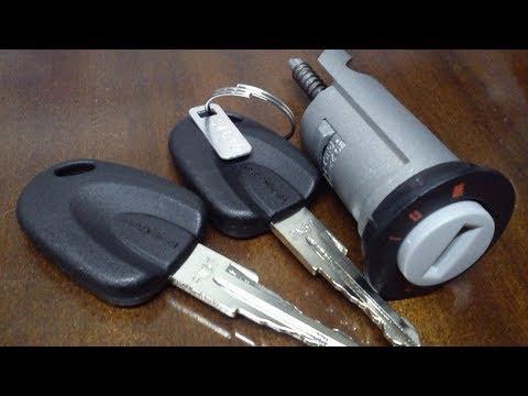 Замена личинки замка зажигания и контактной группы Nexia Opel матиз и подобные