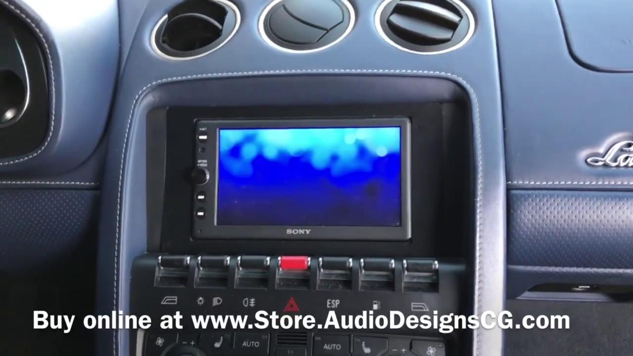 Lamborghini Gallardo Double Din Dash Kit Youtube