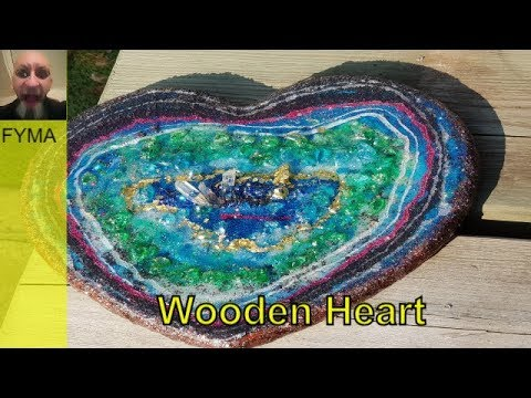 Learn Resin Geode 'Wooden Heart' Geode ~  Free Your Mind Art (2018)