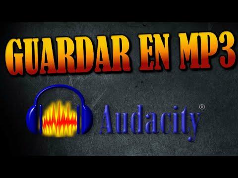 Como Exportar o Guardar Audio MP3 en Audacity [2016]