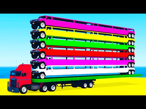 Thumbnail: LEARN COLORS and Long Cars Learn Numbers w Spiderman Cartoon for Kids Learning Video