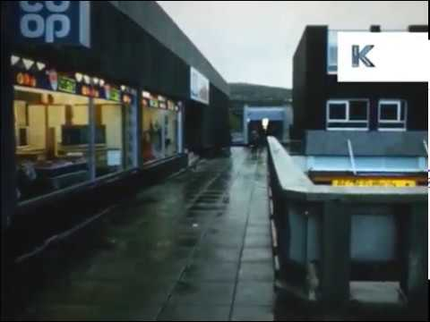 1970s Merthyr Tydfil Wales, St Tydfil Shopping Centre