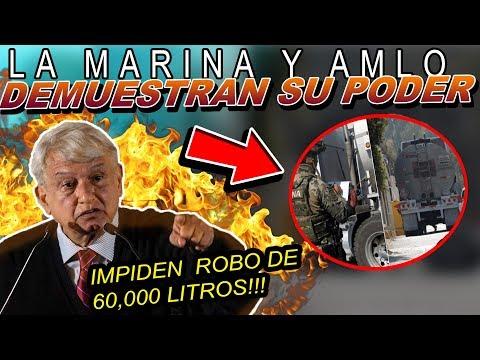 AMLO DA DUR0 G0LPE AL HUACHICOLEO JUNTO CON LA MARINA E IMPIDEN R0B0 DE 60 MIL LITROS!!