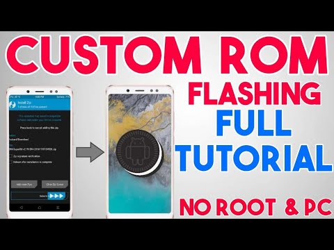 How to Flash Custom ROM on Android without PC & Root   Install Any ROM like Lineage OS   In Hindi